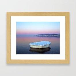 Ice Raft on the Sea Framed Art Print