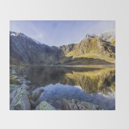 Lake Idwal Throw Blanket