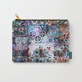 Celestial Tile Pattern Carry-All Pouch