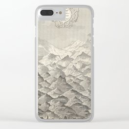 Vintage Map of Hills and Mountains in Great Britain, 1837 Clear iPhone Case