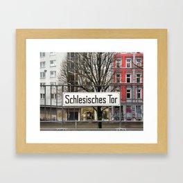 Berlin U-Bahn Memories - Schlesisches Tor Framed Art Print