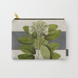 botanical stripes 5 -gray Carry-All Pouch