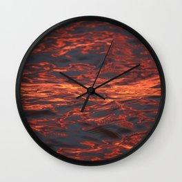 Mississippi River I Wall Clock