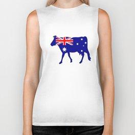 Australian Flag - Cow Biker Tank
