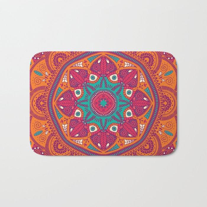 Colorful Mandala Pattern 017 Bath Mat