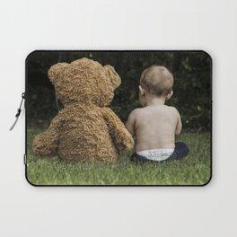 Baby and Teddy Bear Laptop Sleeve