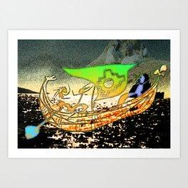 Totora boat Art Print