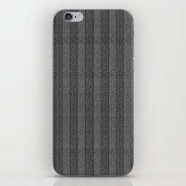 """Grey Vertical Lines Wool Texture"" iPhone Skin"