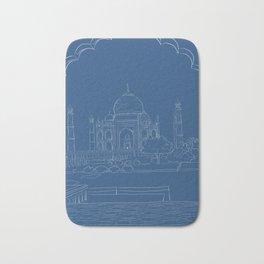 Blue Taj Mahal Drawing Bath Mat