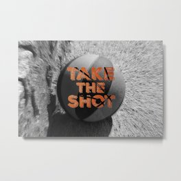 Vintage: Take the Shot Basketball  Metal Print