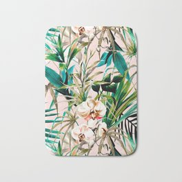 Pattern floral tropical 001 Bath Mat