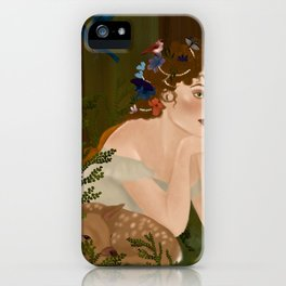 Mielikki, Finnish goddess of the forest iPhone Case