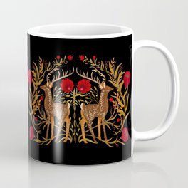 Two Stags Protecting The Dark Forest Gate Coffee Mug