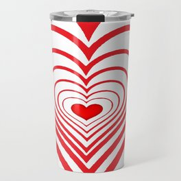 RED VALENTINES HEARTS IN HEARTS ART Travel Mug