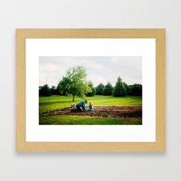 Learning to Garden Framed Art Print