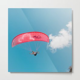 Paraglide parapente Metal Print
