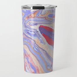 Watercolor rainbow drops Travel Mug