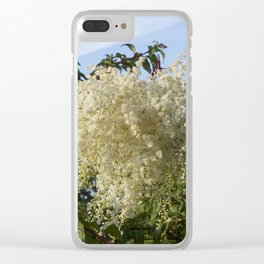 Cascade of flowers Clear iPhone Case
