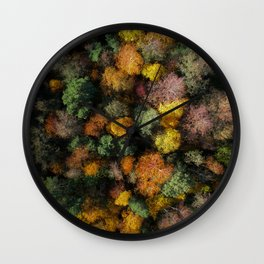 Autumn Forest - Aerial Photography Wall Clock