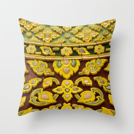 flower statue in Thai style Throw Pillow