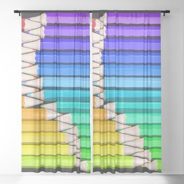Rainbow of Creativity Sheer Curtain