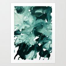 inkblot marble 4 Art Print