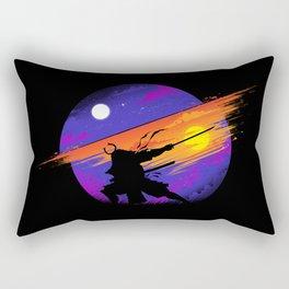 Sunset Samurai Rectangular Pillow
