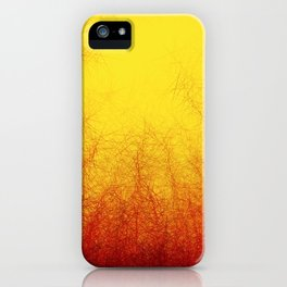 Linear Radial Sunset iPhone Case