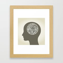 Head the industry2 Framed Art Print