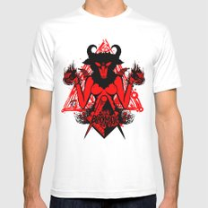 blackmagic.red MEDIUM White Mens Fitted Tee