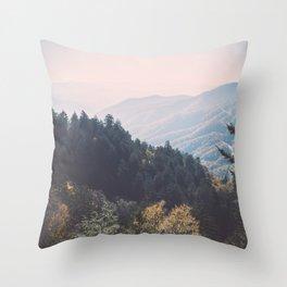 Smoky Mountains National Park Throw Pillow