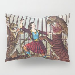 The Lion Queen - Vintage Circus Art, 1873 Pillow Sham