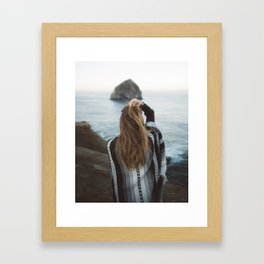 Windswept at Cape Kiwanda Framed Art Print