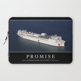 Promise: Inspirational Quote and Motivational Poster Laptop Sleeve