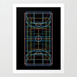 Sports Courts Art Print