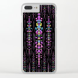 rainbow asteroid pearls in the wonderful atmosphere Clear iPhone Case