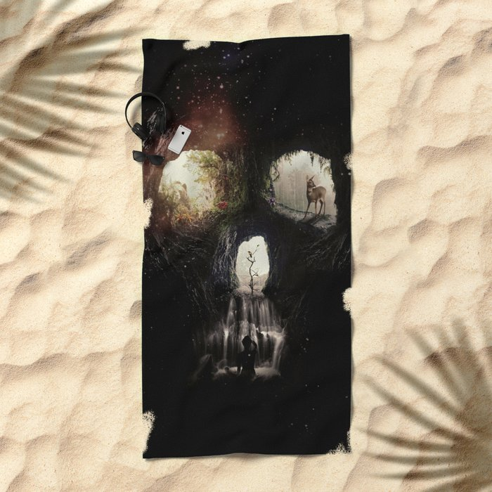 Cave Skull Beach Towel