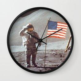 American Moon Landing Wall Clock