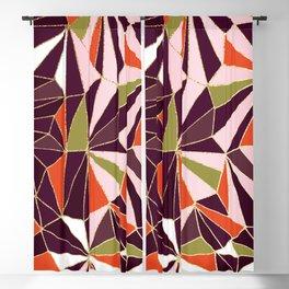 New Art Deco Geometric Pattern - Burgundi and Pink #deco #buyart Blackout Curtain