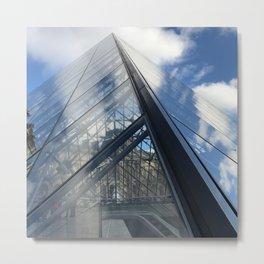 Reflective Louvre Metal Print