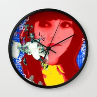 her art Wall Clocks featuring HER by Lisamce