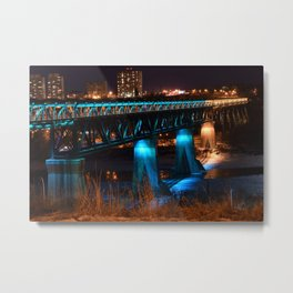 Popsicle Stick Bridge Metal Print