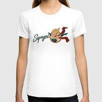 supergirl T-shirts featuring Supergirl Bombshell by Liquidsugar