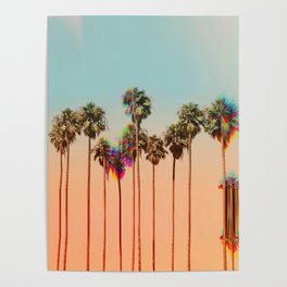 Glitch beach Poster