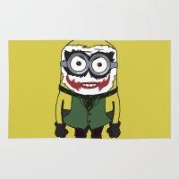 minion Area & Throw Rugs featuring Joker Minion by SEANLAR94