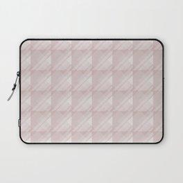 Modern Geometric Pattern 7 in Shell Pink Laptop Sleeve