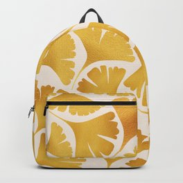 Abstraction_GOLDEN_Ginkgo_Pattern_Minimalism_001 Backpack