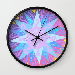 INTERSTELLAR SUNSET BREAKFAST Wall Clock