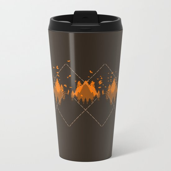 Tradicional Nature Pattern Metal Travel Mug