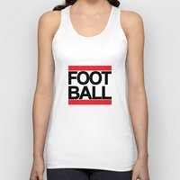 football Tank Tops featuring FOOTBALL by Crewe Illustrations